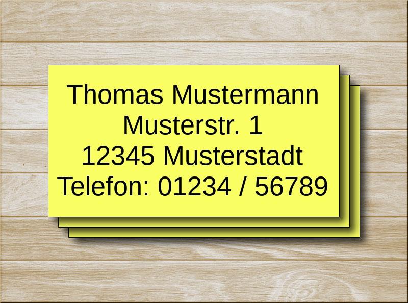 Adressetiketten Gelb 4 Zeilen