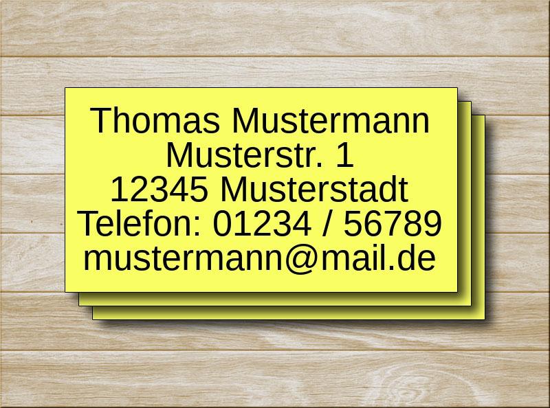Adressetiketten Gelb 5 Zeilen
