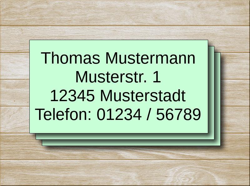 Adressetiketten Grün 4 Zeilen