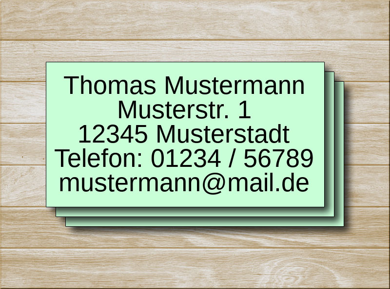 Adressetiketten Grün 5 Zeilen